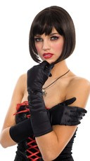 Satin Gloves - Black