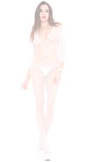 V Cut Bodystocking - White