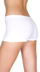 Spandex Seamless Boy Short - White