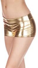 Metallic Cheeky Boy Shorts - Gold
