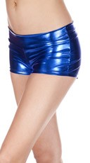 Banded Metallic Shorts - Blue