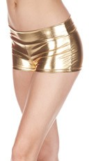 Banded Metallic Shorts - Gold