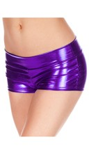 Banded Metallic Shorts - Purple