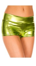 Banded Metallic Shorts - Green