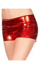 Banded Metallic Shorts - Red