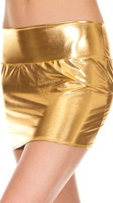 Metallic Mini Skirt - Gold