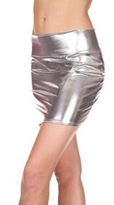 Metallic Mini Skirt - Silver