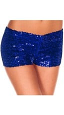 Sequin Booty Shorts - Blue