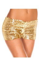 Sequin Booty Shorts - Gold