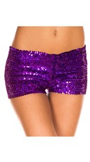 Sequin Booty Shorts - Purple