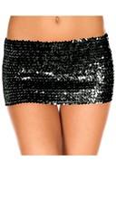 Sequined Mini Skirt - Black