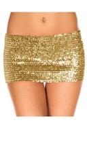 Sequined Mini Skirt - Gold