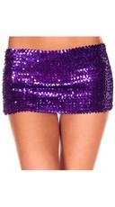 Sequined Mini Skirt - Purple
