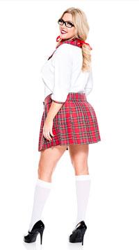 Plus Size Curvaceous School Nerd Costume