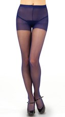 Sheer Control Top Pantyhose - Navy Blue