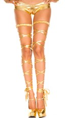 Metallic Leg Wraps - Gold