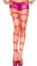 Metallic Leg Wraps - Hot Pink