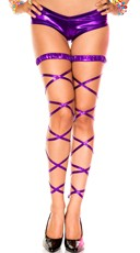 Metallic Leg Wraps - Purple