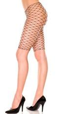Fence Net Short Leggings - Black