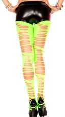 Uneven Ripped Leggings - as shown