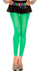 Babe Alert Footless Tights - Kelly Green