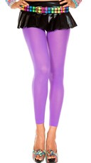 Babe Alert Footless Tights - Purple