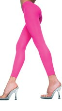 Babe Alert Footless Tights - Hot Pink