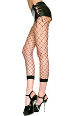 Fence Net Leggings - Black