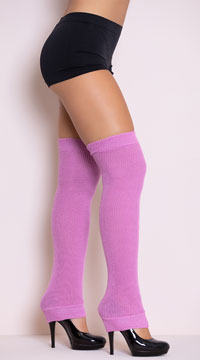 Thigh High Leg Warmers - Lavender