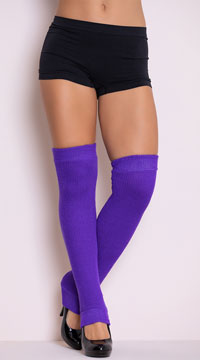 Thigh High Leg Warmers - Purple