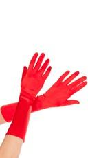 Satin Gloves - Red