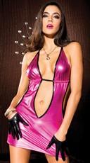 Hot Pink Metallic Mini - Hot Pink/Black