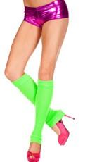 Knee High Leg Warmers - Neon Orange