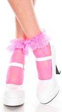 Lace Socks - Hot Pink