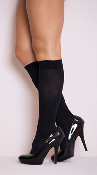 Opaque Knee Highs - Black