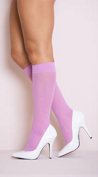 Opaque Knee Highs - Lavender