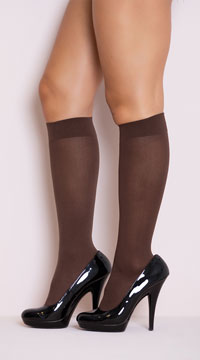 Opaque Knee Highs - Dark Skin