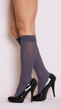 Opaque Knee Highs - as shown