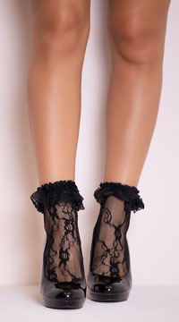 Lace Socks - Black