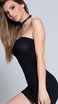Basic Tube Chemise - Black