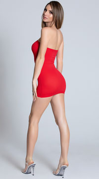 Basic Tube Chemise - Red