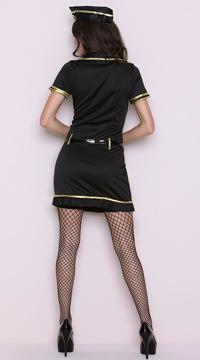 Mile High Club Stewardess Costume - Black