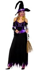 Madame Witch Costume - Black/Purple
