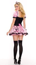 Pink Couture Queen of Hearts Costume - Black/Pink