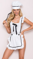 Playful Chef Lingerie Costume - White
