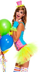 Miss Clowning Around Clown Costume - Multi-Color