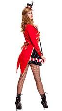 Ravishing Ring Mistress Costume - Red/Black/White