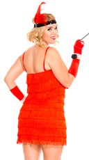 Plus Size 1920s Stunning Flapper Costume - Red