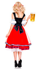 Oktoberfest Beer Girl Costume - Red