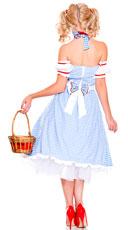 Dorothy Doll Costume - Blue/White